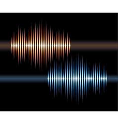 Blue and orange stereo waveform vector image vector image