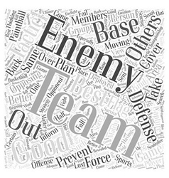 Bwpw defensive tactics paintball word cloud vector