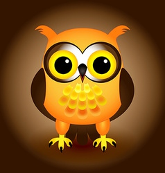 Cartoon orange owl vector