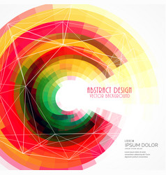 Colorful abstract circle frame background vector