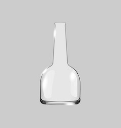 empty flask for liquids vector image