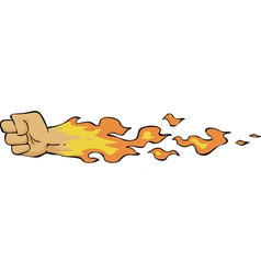 fire fist vector image vector image