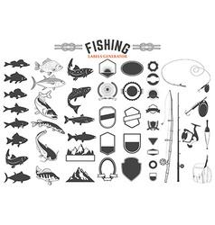 fishing labels generator vector image