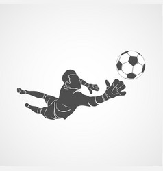 goalkeeper ball icon vector image vector image