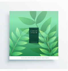 Green nature cover page design background vector