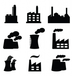 industrial icons vector image vector image
