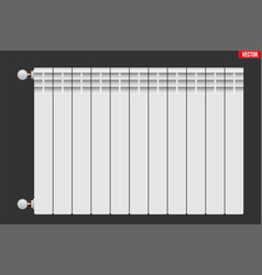 Metal heating radiator vector