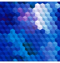 Multicolor cubic mosaic seamless background vector