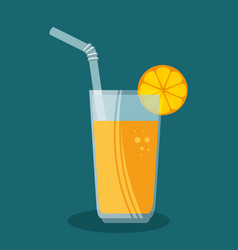 orange juice fruit icon vector image vector image