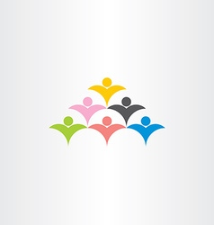 People crowd audience logo icon vector