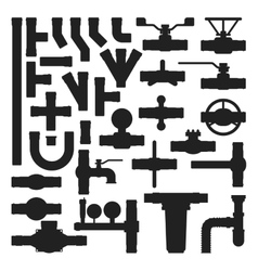 Pipes icons silhouette isolated vector image vector image