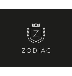 Premium monogram letter z initials ornate vector