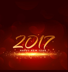 Red background for 2017 new year vector
