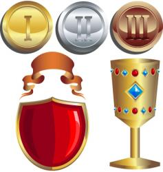 rewards vector image