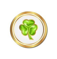 Shamrock sticker isolated for Saint Patrick day vector image vector image