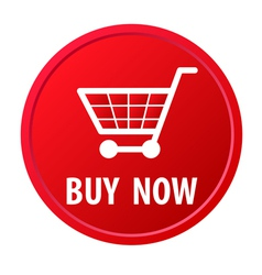 Shopping basket button vector image vector image