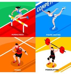 Sport isometric concept vector