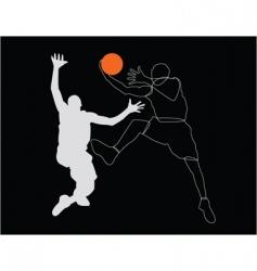 Sportsmen poster vector