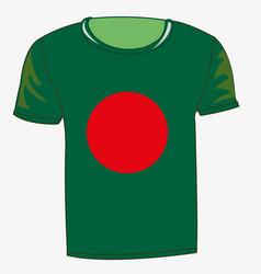 T-shirt with flag bangladesh vector