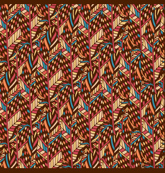 Textile seamless pattern in ethnic colors ethnic vector