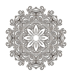 Mandala coloring34 vector