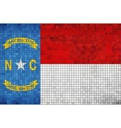 Abstract mosaic flag of north carolina vector