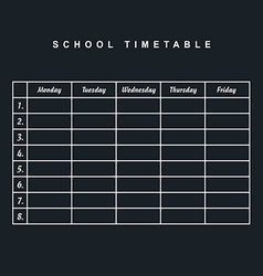 School timetable icon illstration part two on vector