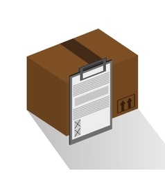 Package and checklist of delivery design vector
