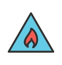 Flammable material vector