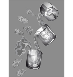 Three glasses vector