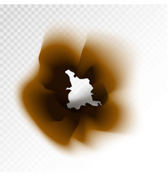 burnt brown isolated paper hole on transparent vector image
