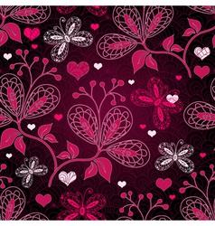 purple seamless valentine pattern vector image