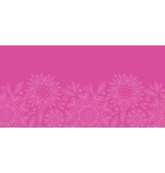 Pink abstract flowers texture horizontal seamless vector