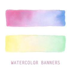 Watercolor banners set vector image