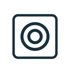 Target icon rounded squares button vector