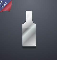 Bottle icon symbol 3d style trendy modern design vector