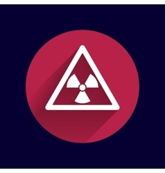 Sign radiation icon caution nuclear atom vector