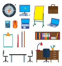 Office items objects office interior vector