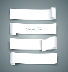 White paper roll ripped design collections banners vector image