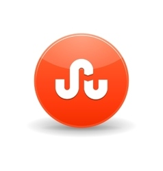 Stumbleupon icon simple style vector