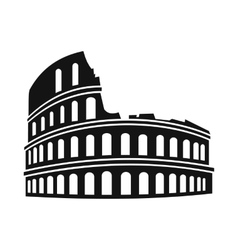 Roman colosseum icon simple style vector