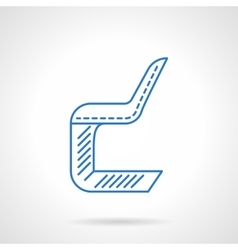 Chair flat line icon vector