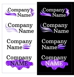 Set of brand identity design lilac logo vector