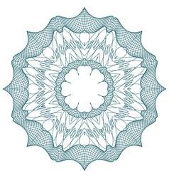 round guilloche element vector image