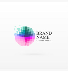 Abstract logo concept design with florating vector