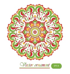 Beautiful summer lace ornament background vector image vector image