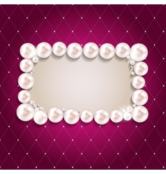 Beauty Pearl Frame Background vector image