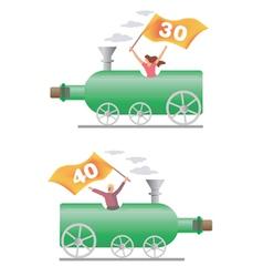 Birthday party locomotive vector