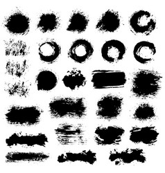 brush strokes set 4 vector image vector image