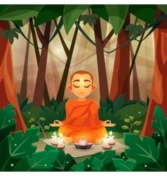 Buddha Flat vector image